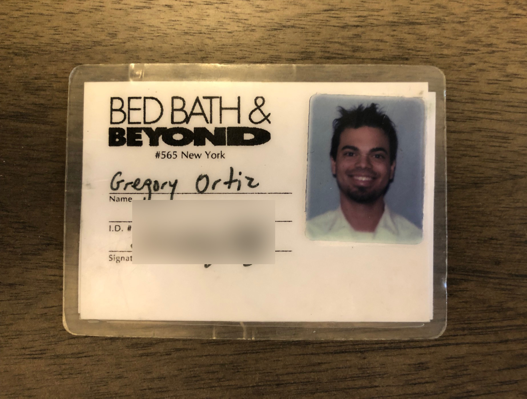 my old bed bath and beyond employee ID